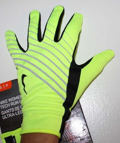 Nike Women's Lightweight Tech Run Gloves -Neon (Small)