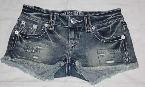 Miss Me THE M SERIES Women's Distressed/Destroyed Denim Shorts (Size 23)