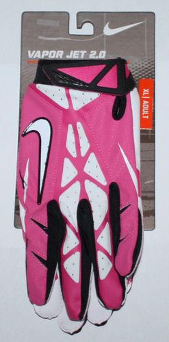 Nike Men's Vapor Jet 2.0 High-Speed Skill Football Gloves -Pink, White XX-Large