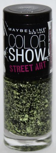 Maybelline New York Color Show STREET ART Nail Polish Top Coat #32 Green Graffiti .23 oz