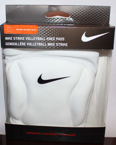Nike STRIKE Unisex 1 Pair White Volleyball Knee Pads (X-Small/Small)
