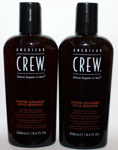 Lot Of 2 American Crew Power Cleanser Styler Remover Daily Shampoo 8.4 oz Each