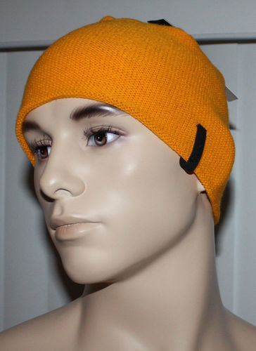 Quiksilver REVOLVE Men's Orange Waffle Texture Beanie Hat (One Size)