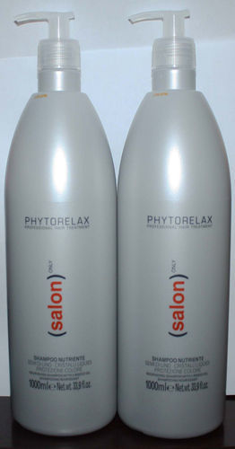 Lot Of 2 Phytorelax SALON ONLY Nourishing Shampoo With Linseed Oil 33.9 oz Each