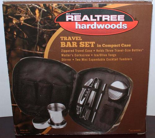 5 pc Bill Jordan Realtree Hardwoods Travel Bar Set With Camo Case