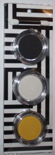 Kate Spade SATURDAY Yellow, White & Black Eye Shadow Set 3 x 0.12 oz