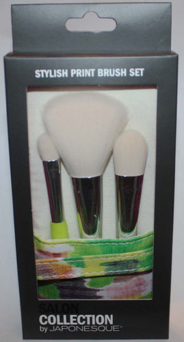 Salon Collection By JAPONESQUE Stylish Print Makeup Brush Set