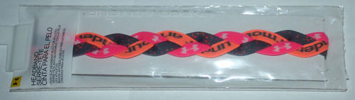 "Under Armour UA Graphic ¾"" Peach, Pink, Gray Speckled Braided Headband (One Size)"