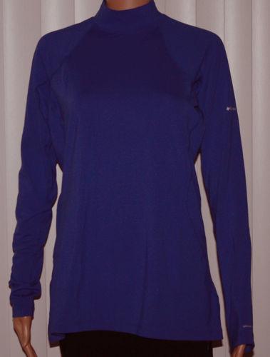 Columbia Women's Baselayer Midweight Mock Neck LS Shirt - Purple (X-Large)