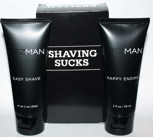PRZMAN Shaving Sucks Easy Shave Lube & Happy Ending After Shave Healer 2 oz