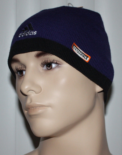 adidas Climawarm TOBOGGAN Men's Purple Reversible Beanie Hat (One Size)