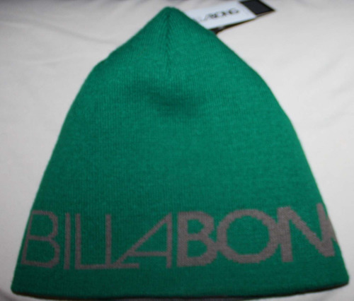 Billabong SURGE Men's Golf Green Reversible To Light Brown Beanie Hat (One Size)