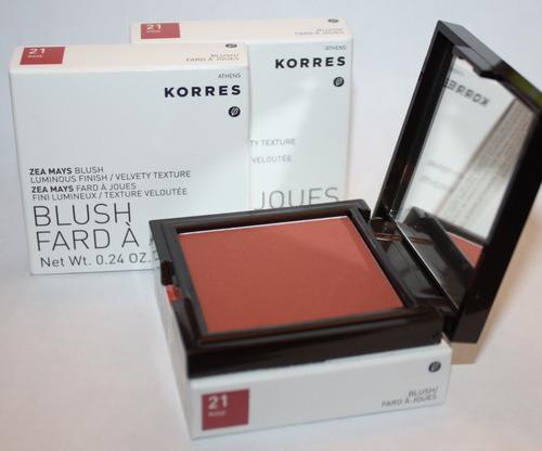 Lot Of 3 Korres Zea Mays Blush #21 ROSE .24 oz Each