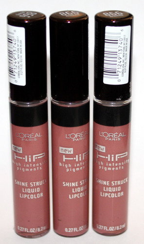 2 L'Oreal HIP Shine Struck Liquid Lip Color Gloss #862 HARMLESS .27 oz Each