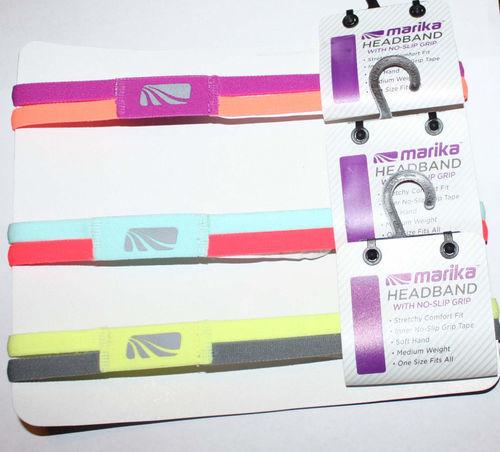 """Marika Women's ¾"""" Double Sport Hairband Headband (several choices)"""