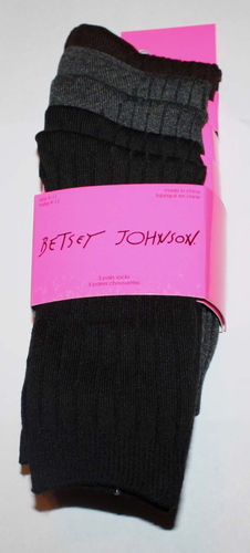 5 Pack Women's Betsey Johnson Multi-Colors Mid-High Ribbed Socks (Size 9-11)