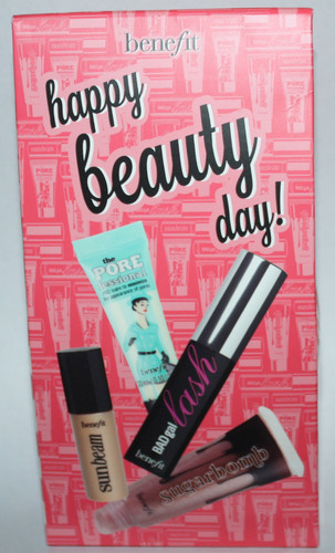 Benefit HAPPY BEAUTY DAY Porefessional, Sun Beam, Badgal Lash, Ultra Plush Sugarbomb