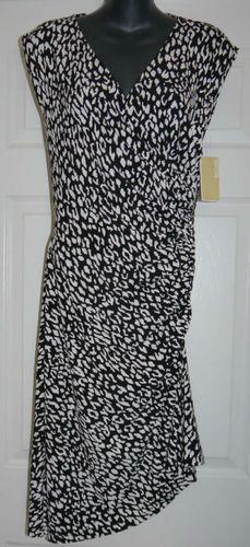 Michael Kors Women's Black Abstract Print Dress  (Size 6)