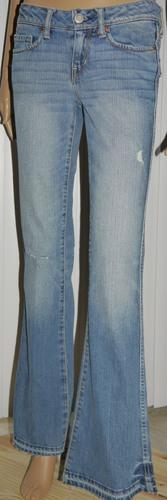 American Eagle Women's Vintage Flare Distressed Denim Jeans (0 Regular)