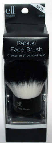 elf Studio Black & White Taklon KABUKI Face Brush #85011