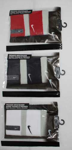 "2 Pk Nike Unisex Premier Reversible 2½"" High Absorbency Wristbands (Several Choices)"