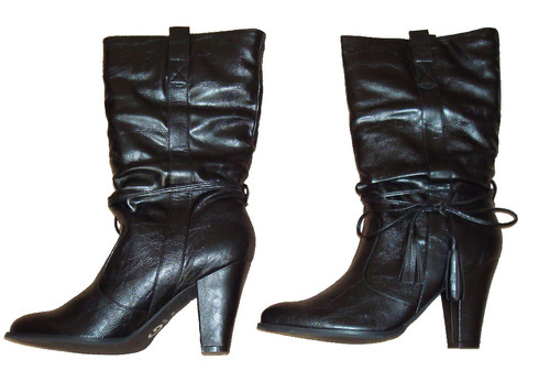 Guess DUKE Women's Mid Height Slouchy Black Boots (Size 10 Medium) *Reduced*