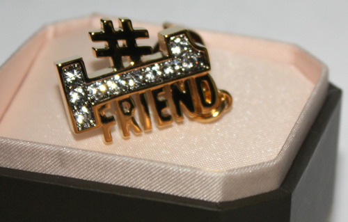 Juicy Couture #1 Friend Gold Toned Rhinestone Embellished Charm
