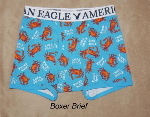 American Eagle Men's CRAB SHACK Fitted Boxer Briefs - X-Large