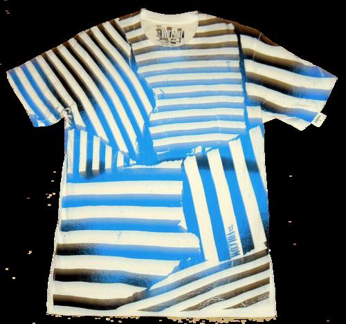 Volcom Men's White With Abstract Stripe Graphic T-Shirt (Medium)
