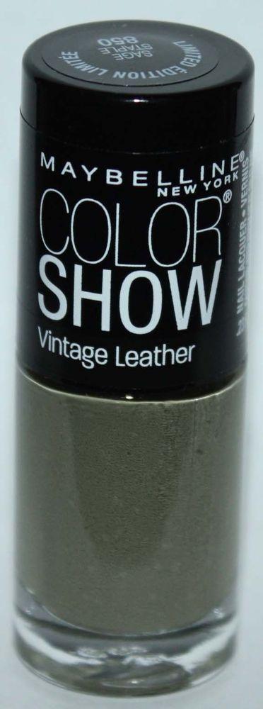 Maybelline New York COLOR SHOW Vintage leather Nail Polish #850 SAGE STAPLE .23 oz