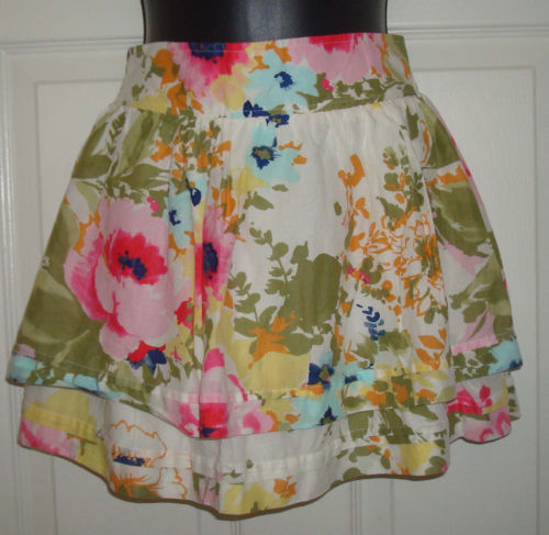 Abercrombie & Fitch Women's Floral Tiered Lined Skirt  (X-Small)*Reduced*