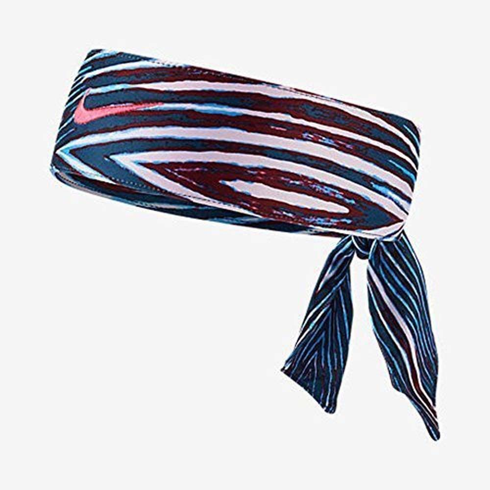 Nike Unisex Blue/Red/White/ Pink Punch Swoosh Dri-fit 2.0 Head Tie (One Size)