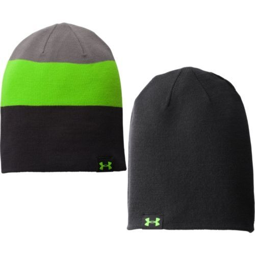 Under Armour Men's Four-In-One Stripe Beanie Black/Graphite/Gecko Green (One Size)