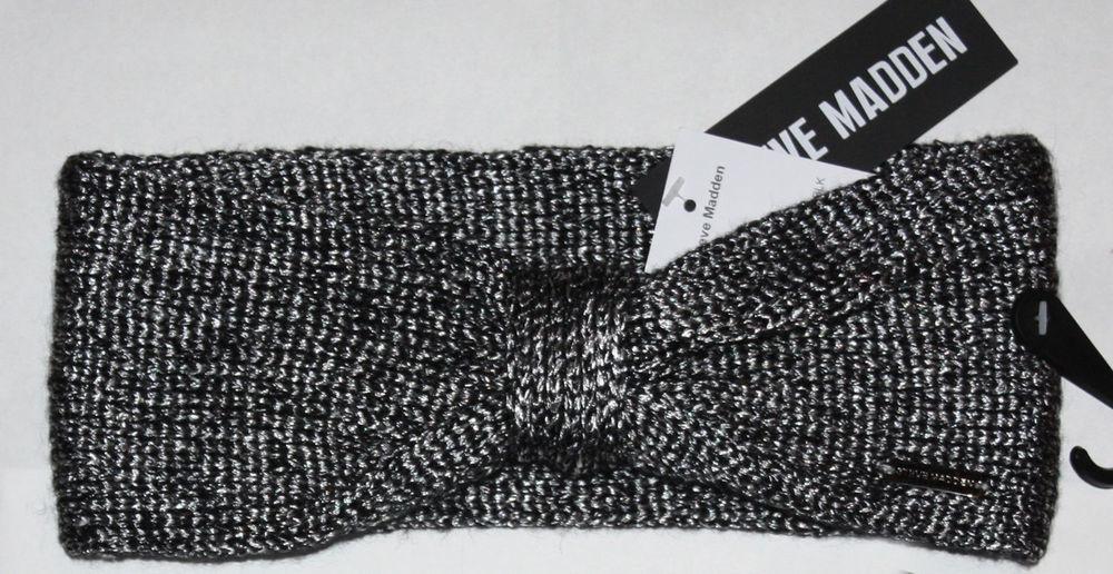 "Steve Madden Women's 4"" Bow Front Hairband Headband (One Size)"