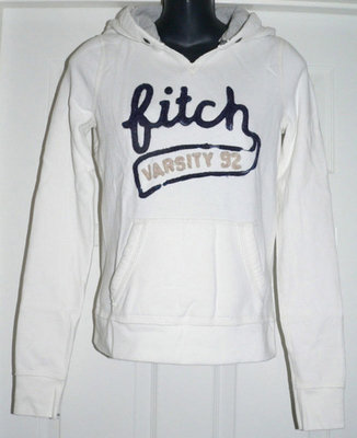 Abercrombie Kids Hoodie Jacket - White (X-Large) *Reduced*