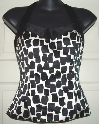 White House Black Market Women's Corset Bustier Halter Top Shirt (Size 0)