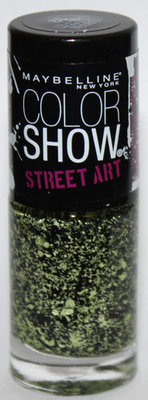 Maybelline New York Color Show STREET ART Nail Polish Top Coat #32 Green Graffiti .23 oz