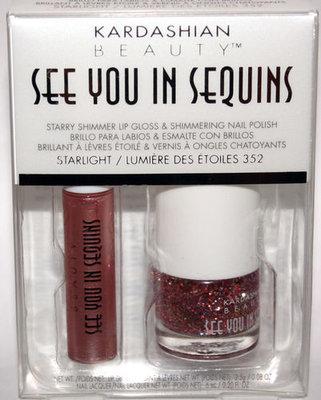 KARDASHIAN SEE YOU IN SEQUINS Lip Gloss STARLIGHT Polish LUMIERE DES ETOILES