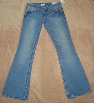 Aeropostale Women's Junior HAILEY Skinny Flare Denim Jeans (0 Short) *Reduced*