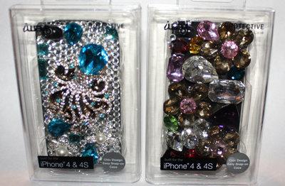 iwave iPhone 4 & 4S Rhinestone Embellished Hard Shell Protective Phone Case