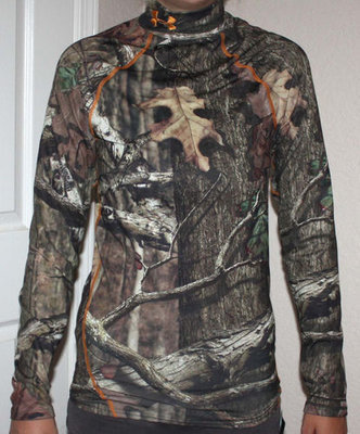 Under Armour Men's Coldgear Fitted Mossy Oak Infinity Camo Shirt (Small)
