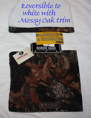Nordic Gear Unisex Mossy Oak Breakup Reversible to White Neck Warmer (One Size)