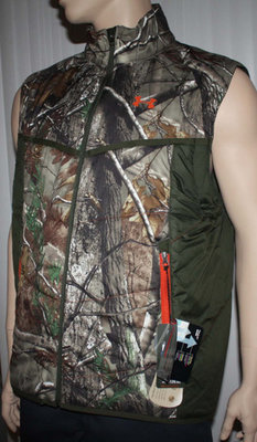Under Armour Men's Coldgear RealTree Camo Wind & Water Resistant Vest (Small)