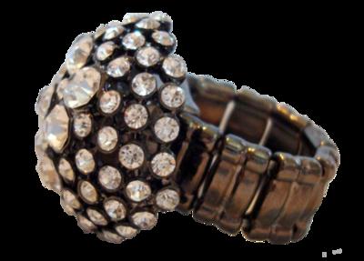 Large Rhinestone Ring (One Size)