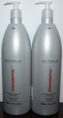 Lot Of 2 Phytorelax MACADAMIA Only Instant Shine Shampoo 33.9 oz Each