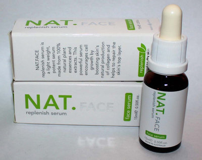Lot of 2 NAT.FACE Replenish Face & Neck Serum 0.50 oz Each