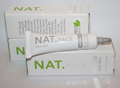 Lot Of 3 NAT.FACE Eye Gel 0.50 oz Each