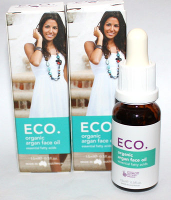 Lot Of 2 ECO. Organic Argan Face Oil With Essential Fatty Acids 0.5 oz Ea