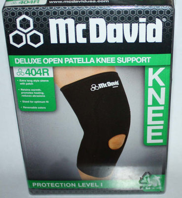 McDavid Protection Level 1 Deluxe Open Patella Neoprene Knee Support 404R (Small)