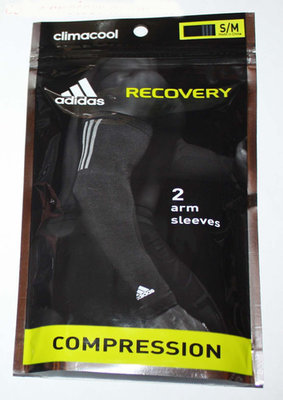 adidas Climacool RECOVERY 1 Pair Men's Compression Arm Sleeves -Magenta (S/M)